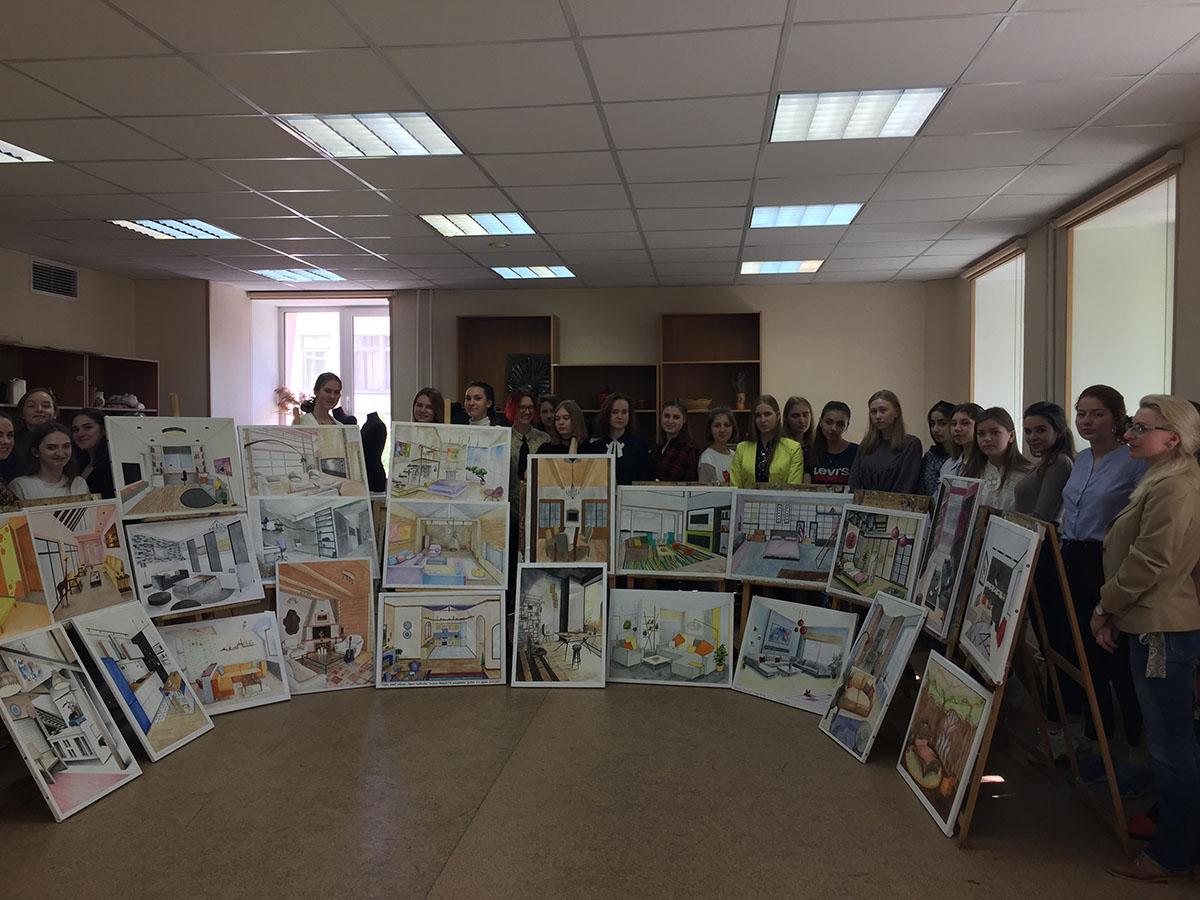 Выставка дизайн-проектов «Интерьеры помещений» от студентов (17.05.2019 г.)