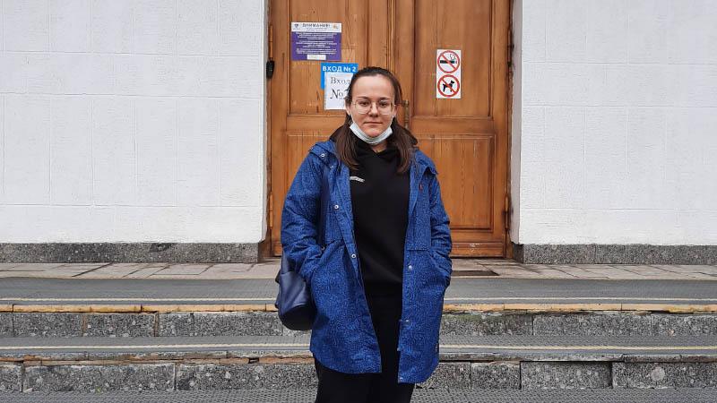 Cтудентка группы Б-24 Влас Алина в сопровождении преподавателя Огневой В.Ю. сдавала ЕГЭ по истории (11.06.2021)