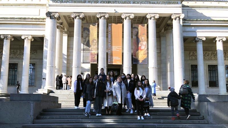 Экскурсия групп БД-21 и БД-22 в музей им. А.С. Пушкина (08.10.2021)