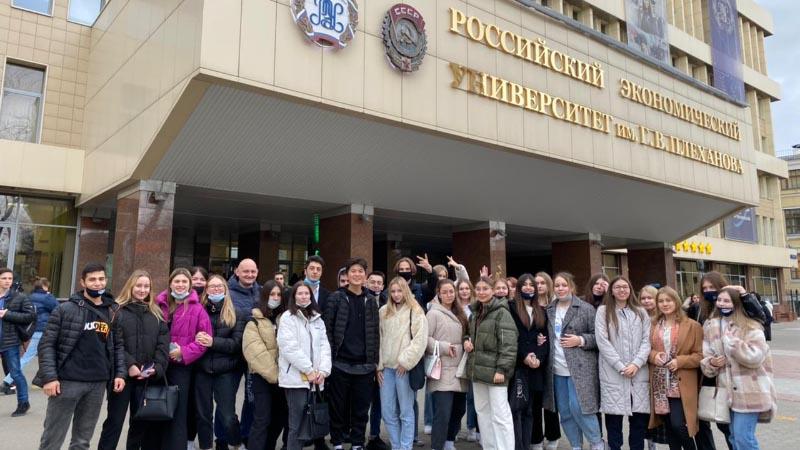 Экскурсия группы Б-19,20 МПЭК в РЭУ им Г.В.Плеханова (19.10.2021)